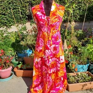 Stunning vintage Hawaiian lace front dress, 11